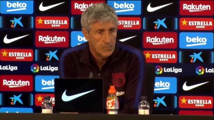 Quique Setién arriesgó con la alineación de Jordi Alba en el Clásico