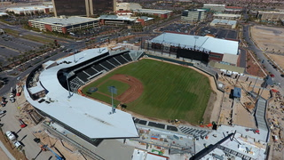 Grass goes in at Las Vegas Vegas Ballpark