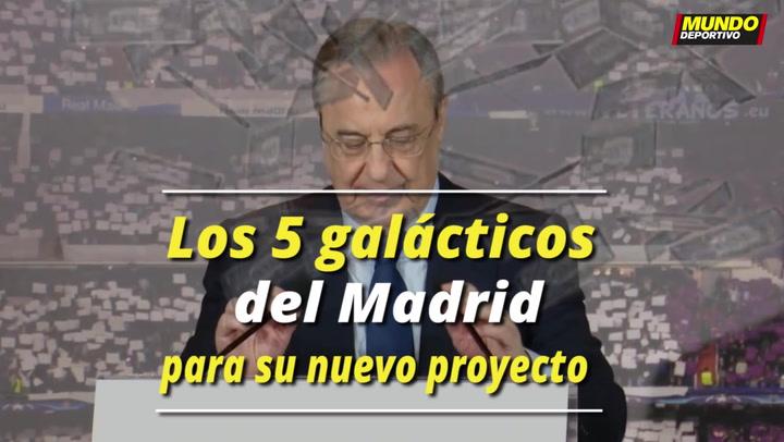 Los 5 galácticos que puede fichar el Madrid para su nuevo proyecto
