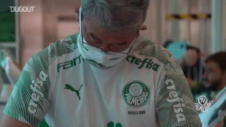 Palmeiras' strong training session ahead of the Brazilian Cup final