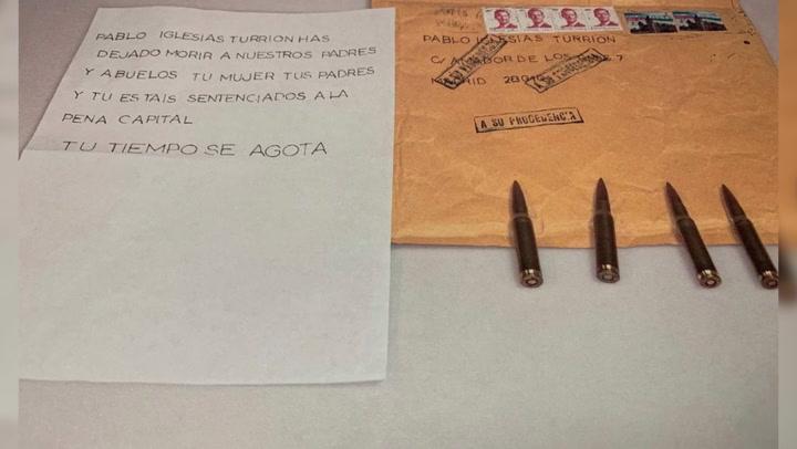 Marlaska, Iglesias y la directora de la Guardia Civil reciben cartas amenazantes con balas