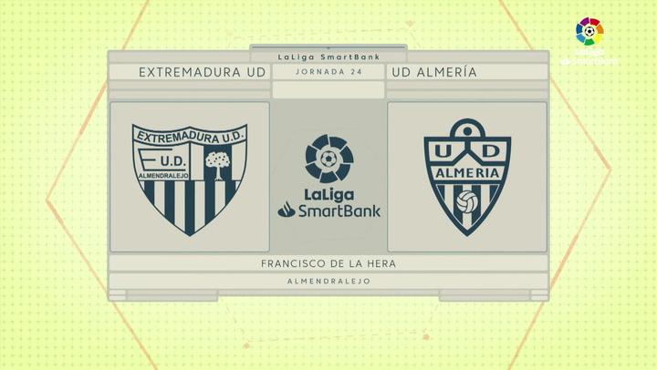 LaLiga SmartBank (J24): Resumen y goles del Extremadura 1-2 Almería