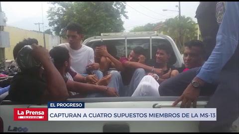 Captura a 8 personas en El Progreso: entre estos, cuatro supuestos miembros de la MS-13 y un guatemalteco