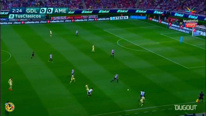 Nicolás Castillo's excellent header goal vs Chivas