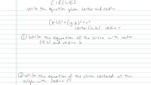 The Circle - Problem 6