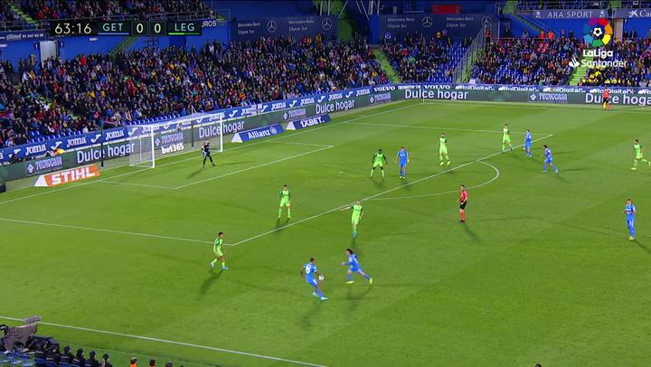 Gol de Ángel (1-0) en el Getafe 2-0 Leganés