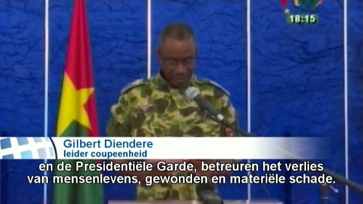 Leider coup Burkina Faso zegt toe macht terug te geven