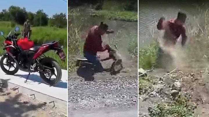 Først tisset apen på motorsykkelen – så gikk den til angrep