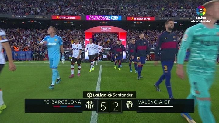 LaLiga (J4): Resumen y goles del Barceona 5-2 Valencia
