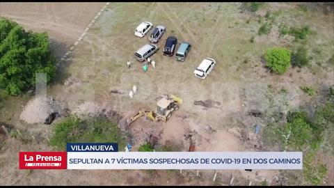 Sepultan a 9 víctimas sospechosas de COVID-19 en Dos Caminos, Villanueva