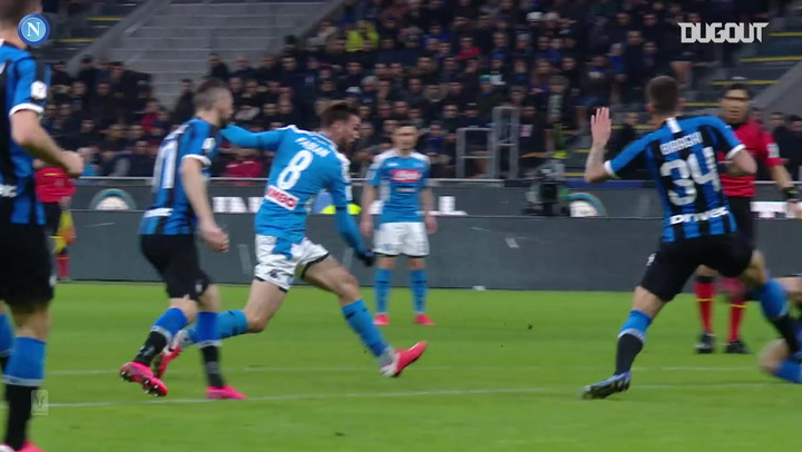 Fabian Ruiz's Coppa Italia semi-final first leg goal vs Inter