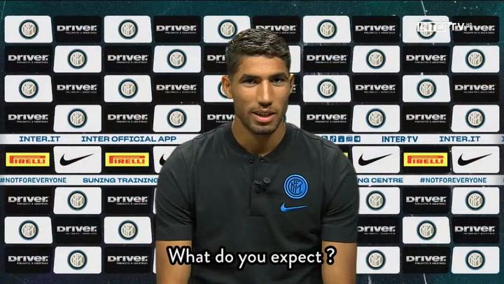 Achraf Hakimi habló por primera vez como nuevo jugador del Inter.