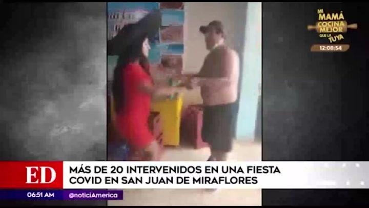 San Juan de Miraflores: Detienen a más de 20 personas en fiesta clandestina que inicio con mariachis