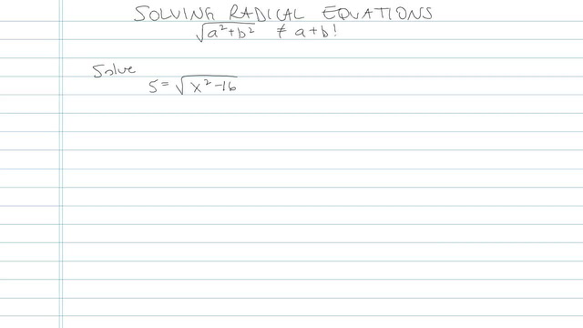 Solving an Equation with Radicals - Problem 12