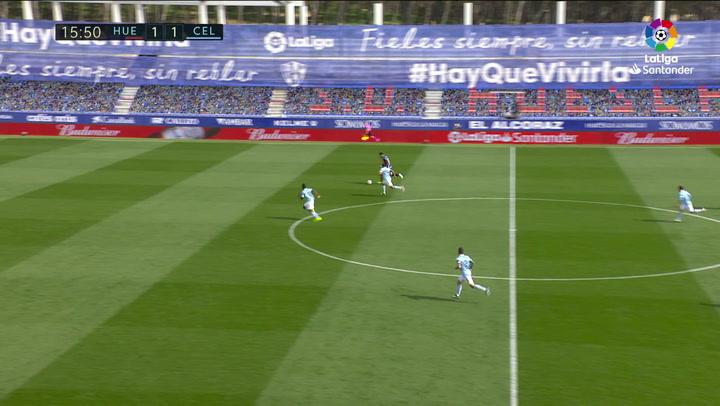 Gol de Rafa Mir (2-1) en el Huesca 3-4 Celta
