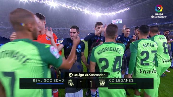 LaLiga (J13): Resumen y goles del Real Sociedad 1-1 Leganés