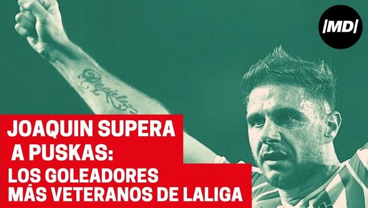 ¿Logrará Joaquín convertirse en el goleador más veterano de la Liga?