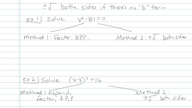 Solving Quadratic Equations Using Square Roots - Problem 5