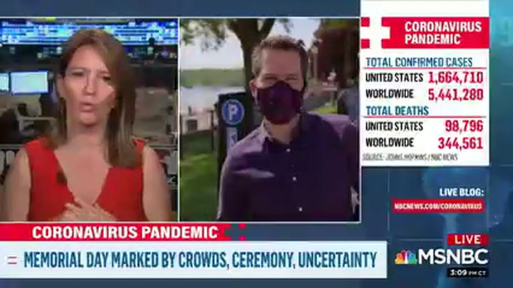 MSNBC Reporter in Wisconsin: Nobody's Wearing Masks