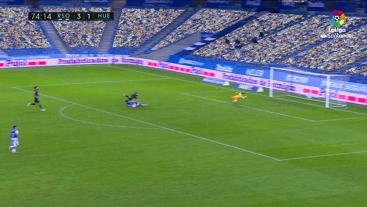 Gol de Isak (1-0) en el Real Sociedad 4-1 Huesca