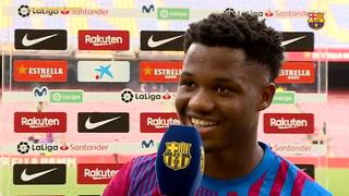 La respuesta de Ansu Fati a ser consultado por el dorsal 10 que era de Messi: