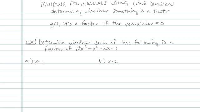 Dividing Polynomials using Long Division - Problem 3