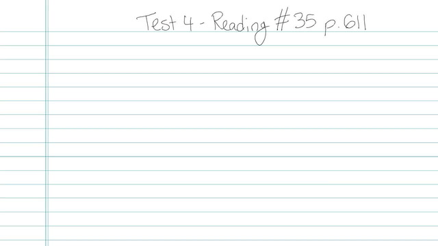 Test 4 - Reading - Question 35
