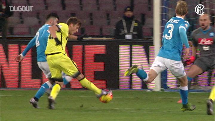 Inter's Coppa Italia goals vs Napoli