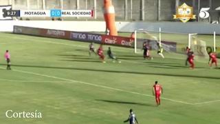 Juan Pablo Montes anotó el 1-0 de Motagua sobre Real Sociedad