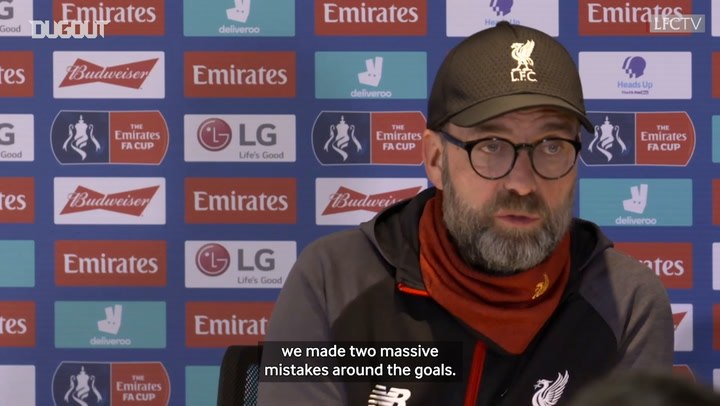 Klopp rues 'massive mistakes' in Chelsea defeat