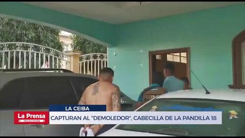 Capturan al Demoledor, cabecilla de la pandilla 18 en La Ceiba