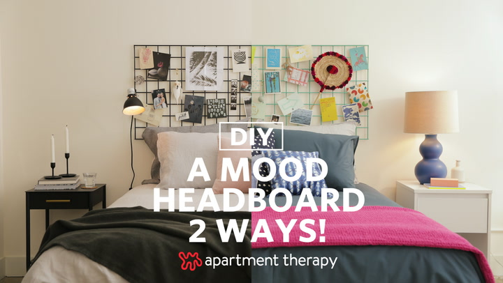 easy diy headboard hack using one material apartment therapy