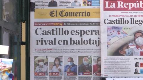Izquierdista Castillo y Keiko Fujimori se acercan al balotaje presidencial en Perú