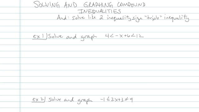 Solving and Graphing Compound Inequalities - Problem 7