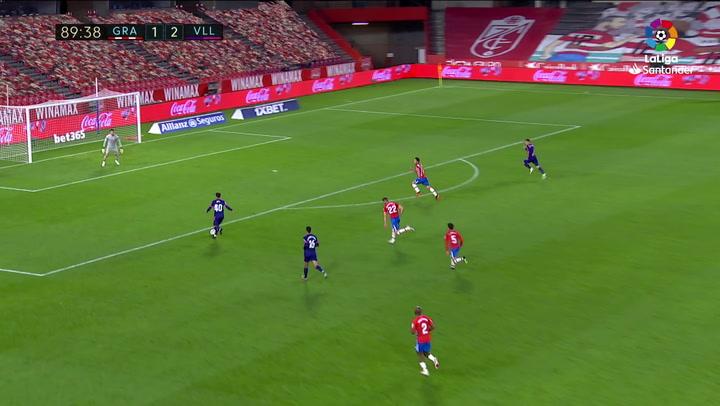 Gol de Jota (1-3) en el Granada 1-3 Valladolid
