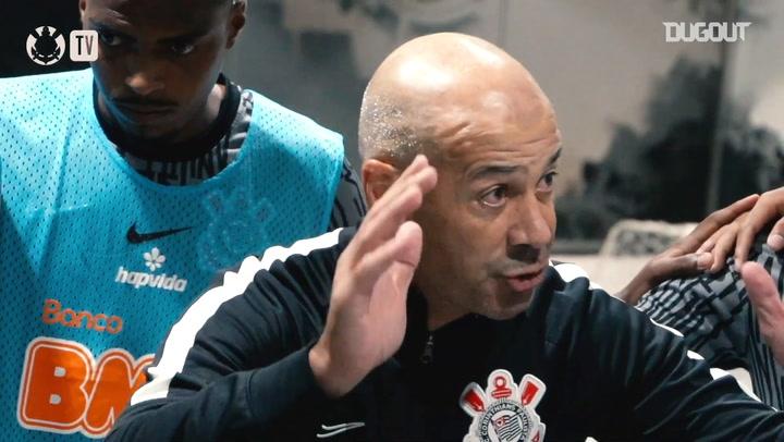 Bastidores da vitória do Corinthians sobre o Sport
