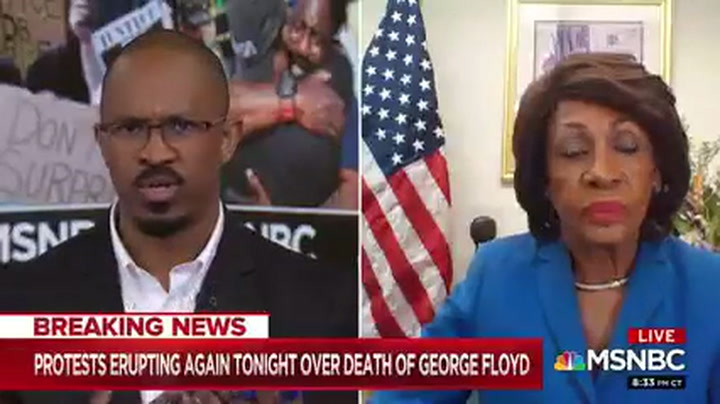 Maxine Waters Doubles Down: Trump 'Emboldened' Police Officer in George Floyd Death