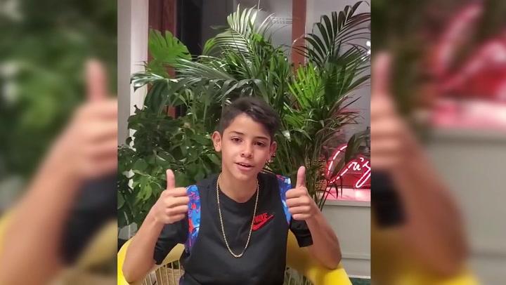 Así se estrena Cristiano Jr en Instagram