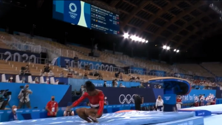 Simone Biles out of Team USA's Tokyo Olympic final following shock error