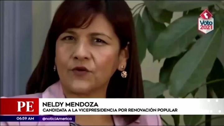 Las polémicas declaraciones de Neldy Mendoza, candidata de la plancha de López Aliaga