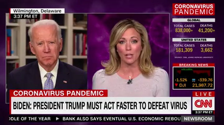 Biden: Trump Has 'Been Very Slow to Act' - Doesn't Seem to Know Facts on Coronavirus