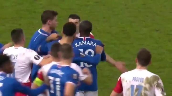 Posibles insultos racistas en el Glasgow Rangers - Slavia Praga de la Europa League