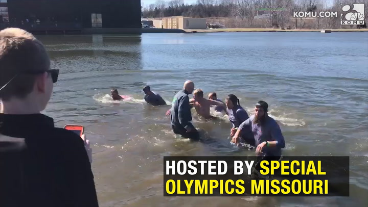 Polar Plunge participants dive in for a good cause