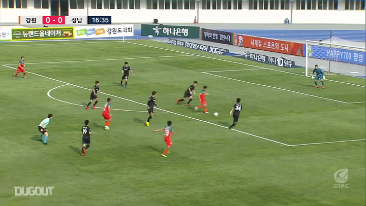 Gangwon's sweeping team goal against Seongnam