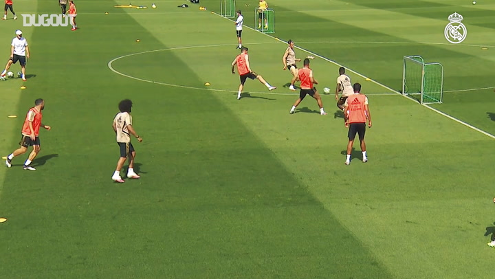Real Madrid's intense training session on eve of LaLiga return