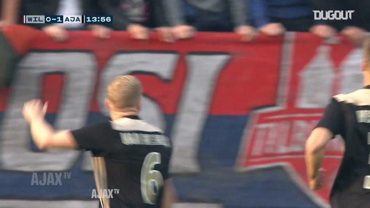 Donny van de Beek fires home Ajax team-goal vs Willem II