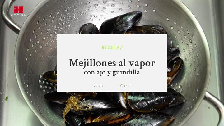 Mejillones al vapor con ajo y guindilla