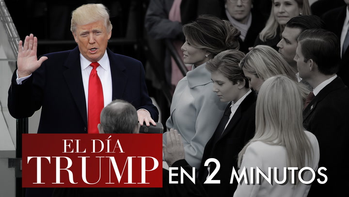 En vídeo: La intensa jornada de Donald Trump