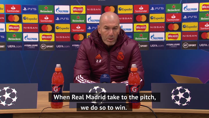 Zidane wants 'more of the same' against Liverpool
