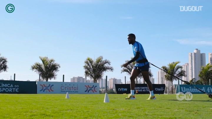 Goiás training session ahead of the return of football